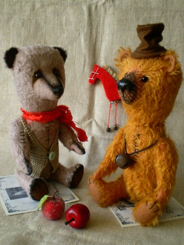 Art teddy bear by Pyatkova Anna -- Ser Gerbert and Petr--