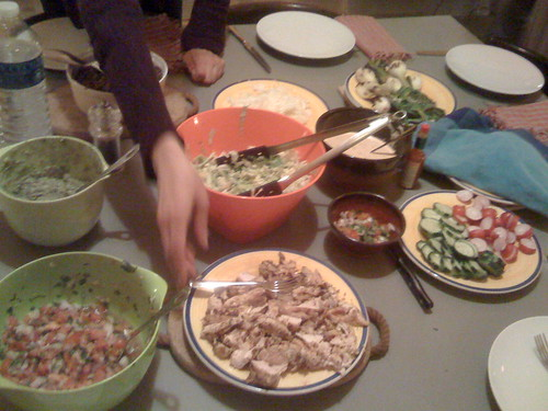 Mexican food made by Canadians for Brits living in France