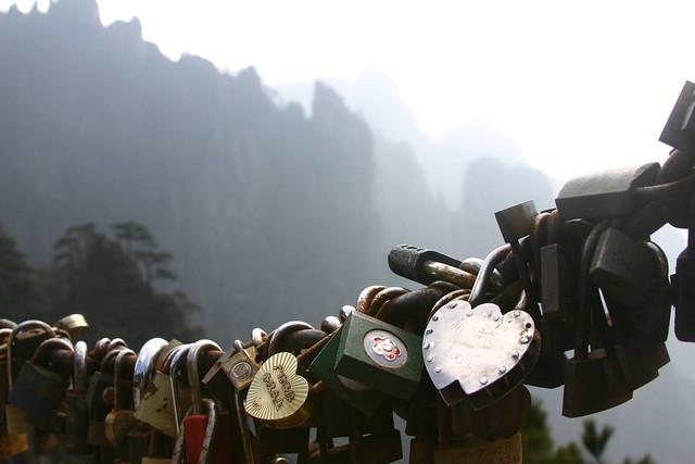 Love Lock in Huangshan, China