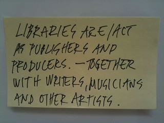 Choosing the future of libraries - #cyc4lib post it