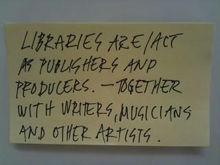 Choosing the future of libraries - #cyc4lib post it