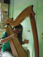 Practicing the Harp