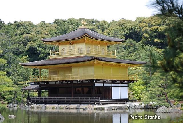 Templo Kinkaku-ji, em Kyoto, Kyoto.