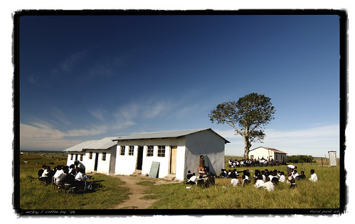 Bekisizwe School teaching outside