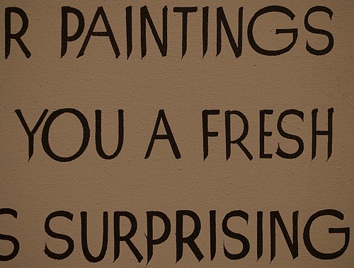 "Detail, ""Exhibiting Paintings"" by John Baldessari at the Hirshhorn (Washington, DC)"