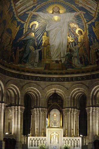 Interior de la Basílica del Sagrado Corazón Sacré Coeur, el balcón más bello de París - 2669322746 a248cc420e - Sacré Coeur, el balcón más bello de París