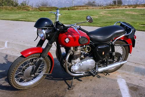 Old BSA Motorcycle