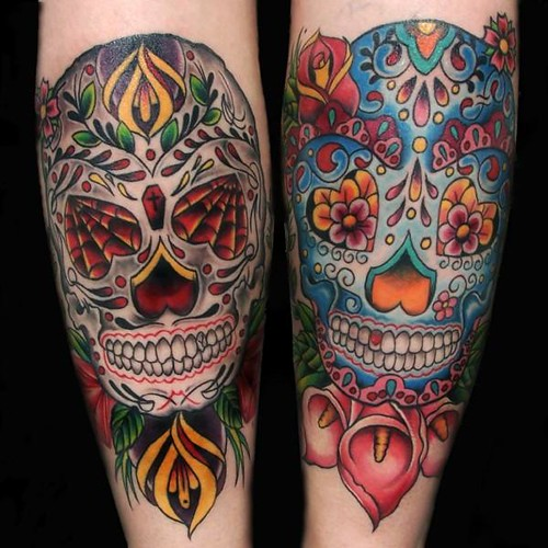 sugar skull tattoos | Flickr - Photo Sharing!