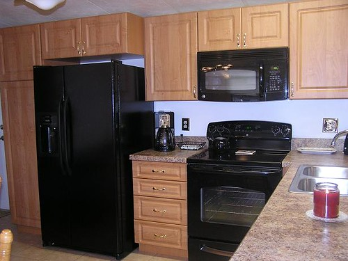 Mobile Kitchen Cabinets : Mobile home makeover