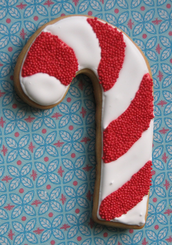 Giant Candy Cane Cookie