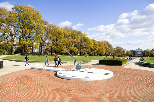 This large sundial is located in the center of McKeldin Mall
