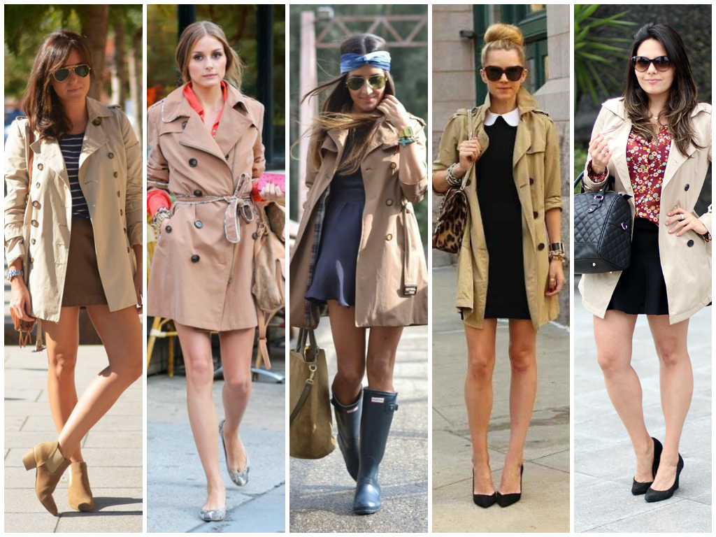 street style trench