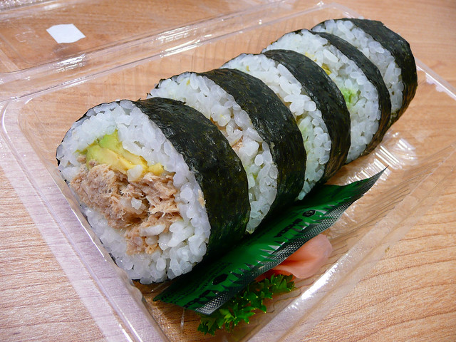 cooked tuna and avocado sushi lunch from nippon fare 19