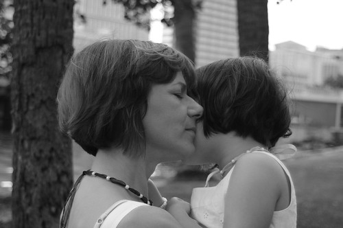 Mother and Daughter 23 b&w