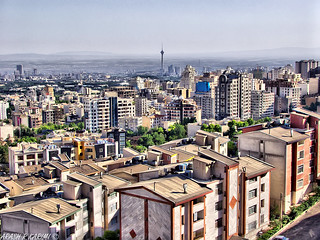Tehran and Milad Tower (HDR)