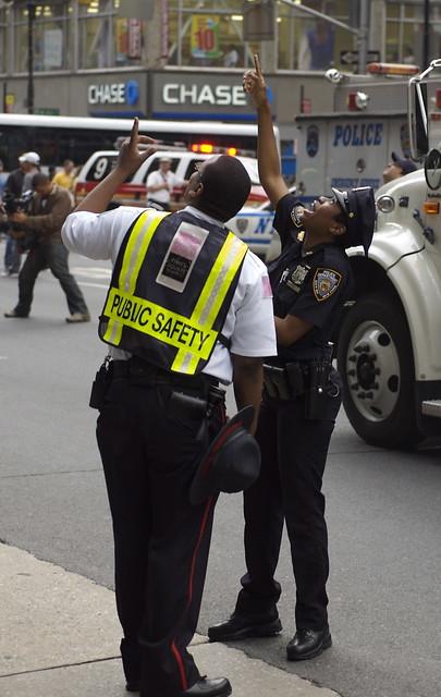 Officer indicates Renaldo Clarke's location