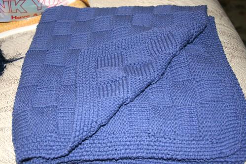 Simple Basket Weave Knitting Pattern : Yellow house designs simple reversable basketweave blanket