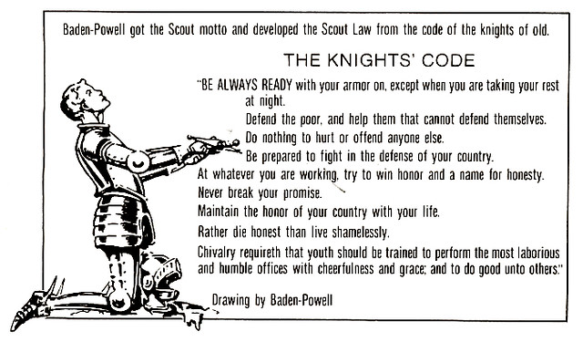 knights code of chivalry essay The chivalry code of the knight is his bravery, loyalty, fearlessness, courtesy and courage — all things that are expected of real knights during his journey, the knight stayed fearless and courageous, because he knew these are the most important features of the noble knight.