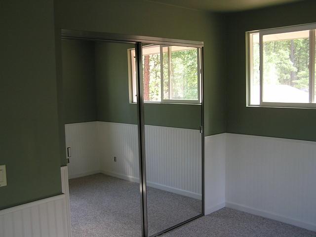 Master bedroom mirrored doors walk in closet flickr for Doors for walk in closet
