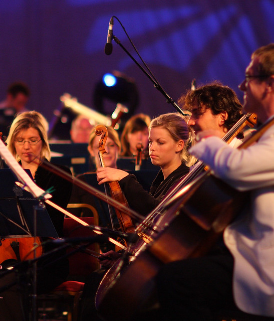 Whoever says audiences for classical music & opera are inevitably white & grey-haired? Royal Philharmonic Orchestra at Shoreditch Festival