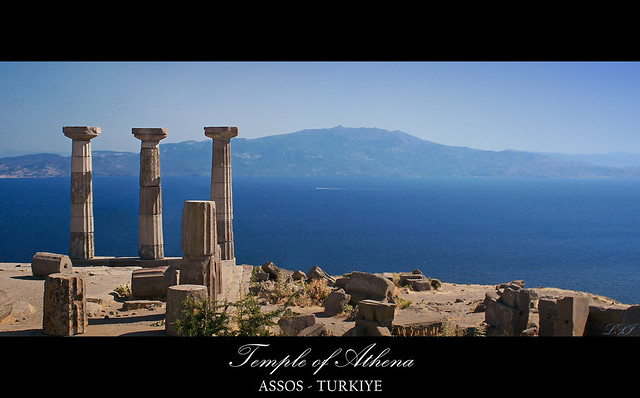 Looking Over The Aegean Sea To The Lesbos Island Temple Of Athena Assos 2 Flickr Photo