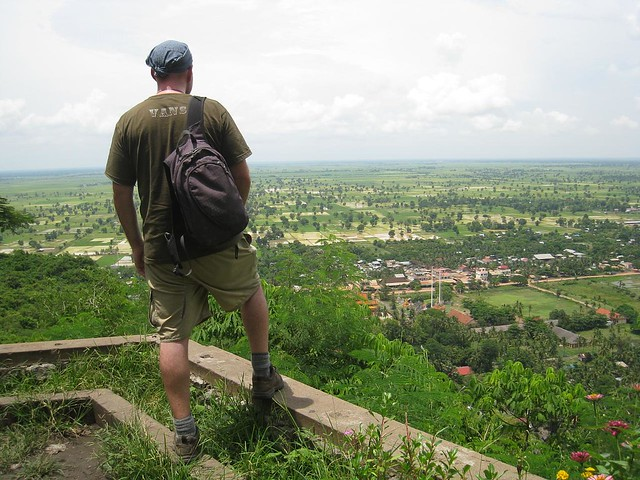 Surveying the landscape around Battambang, Cambodia