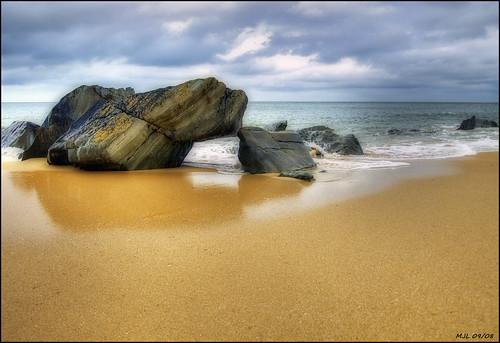 ireland sea beach rocks waves olympus hdr donegal inishowen e510 tonemapping kinnegoe vosplusbellesphotos