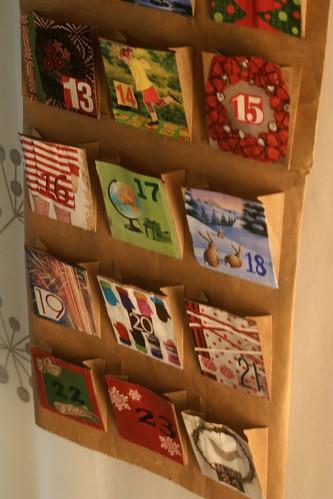 Joulukalentereita joulun taikaa for Calendario manualidades