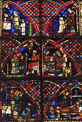 Vitrail de la vie de St-Lô - Cathédrale de Coutances - Manche - Basse Normandie