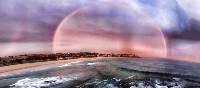 Rainbow over Bondi Icebergs