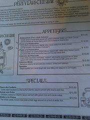 Latin Chef menu front