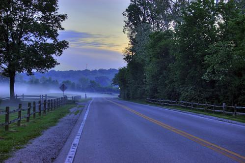 road ohio germantown fog rural sunrise foggy hdr dayton foggyroad creekroad ruralohio germantownohio germantownmetropark afoggycountrysunrise
