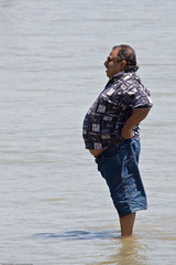 build muscle and Burn fat, Big Man Big Stomach Scenes from Morro Bay CA beach…