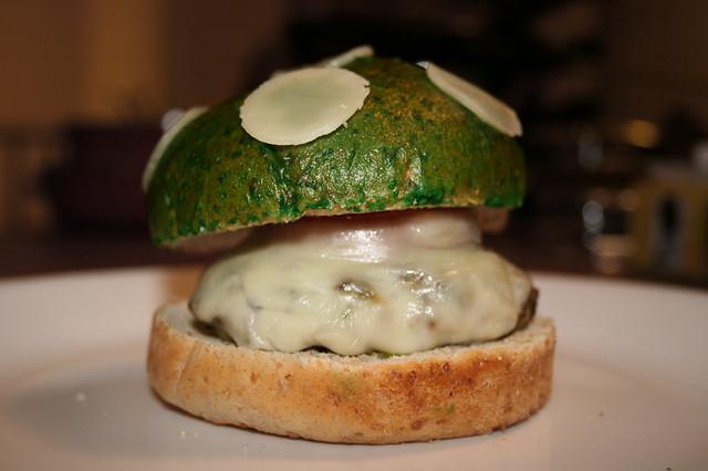 """""""1UP Mushroom"""" mushroom burger"""
