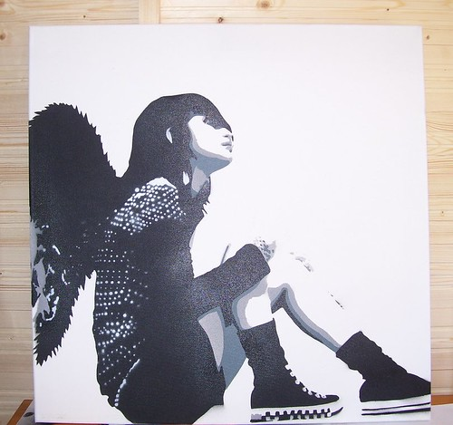 emotional angel.(stencil art) t*3