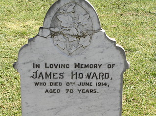 Howard Headstone at Greendale Cemetery, NSW