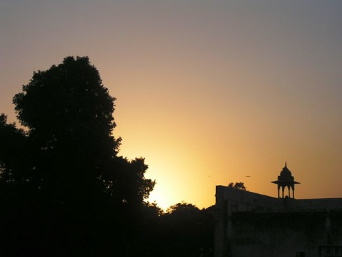 sunset india dehli