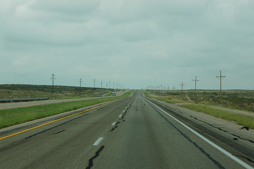 The road to Vaughn, New Mexico - Route 285