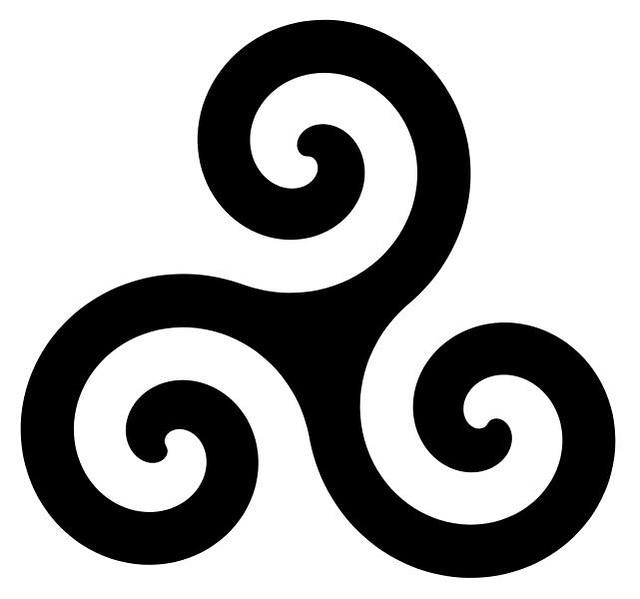 05de9b53a27 ... Triskle é um símbolo celta que representa as tríades da vida em eterno  movimento e equilíbrio