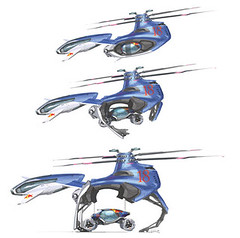 radio-controlled toy(0.0), cartoon(0.0), rotorcraft(1.0), vehicle(1.0), radio-controlled helicopter(1.0), illustration(1.0), toy(1.0),