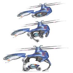 rotorcraft, vehicle, radio-controlled helicopter, illustration, toy,