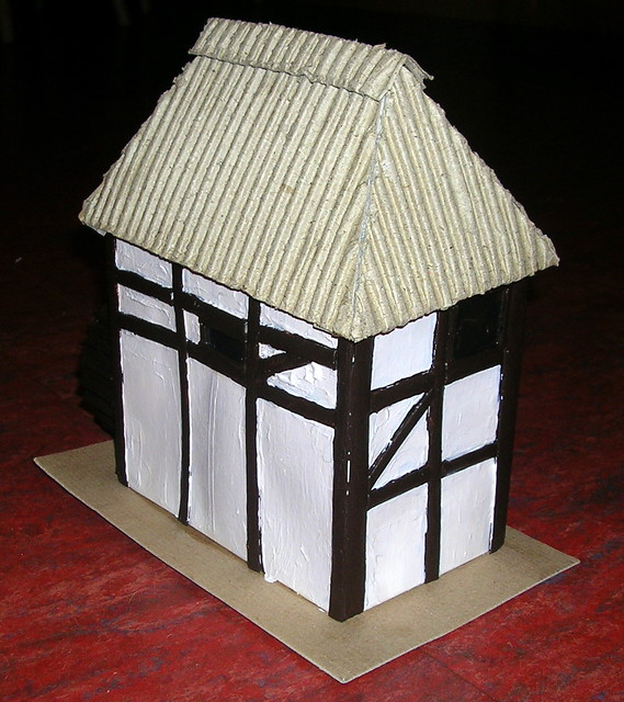 School project build a house from cardboard