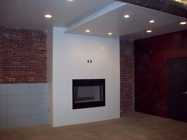 Built In Flueless Fire, Plasma TV Gas Fireplace, High Efficiency.