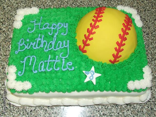 Girls Softball Birthday Cake Flickr Photo Sharing