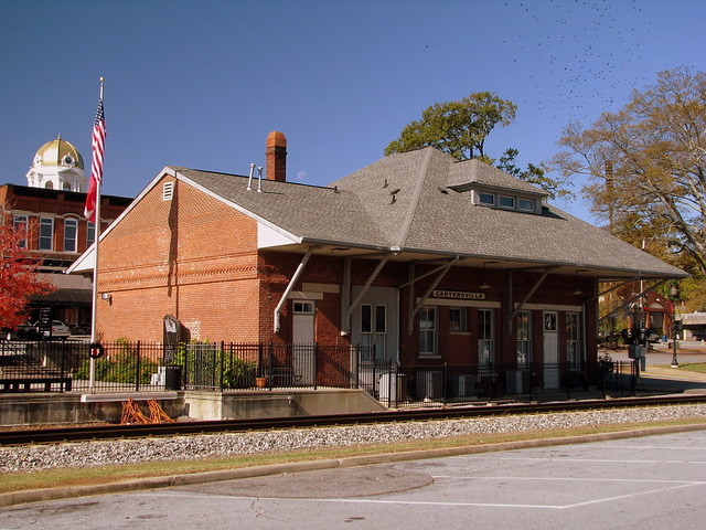 cartersville ga depot this train depot is one of the