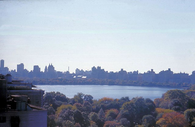 Fall 1974: Central Park from Mt Sinai Medical Center, E 100 St, NYC