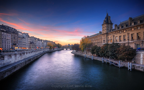 Sunset On The Seine River HDR | Paris, France | davidgiralphoto.com