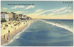 Bathing beach, Old Orchard Beach, Me.