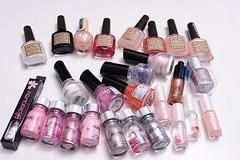 nail polish, glitter, pink, cosmetics,