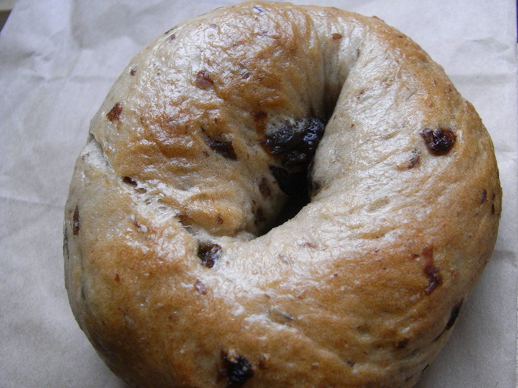 cinnamon-raisin bagels toasted